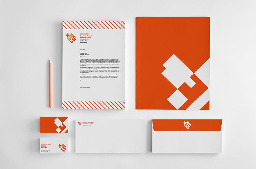 G4p Branding Stationery Jennifer Giesler Graphic